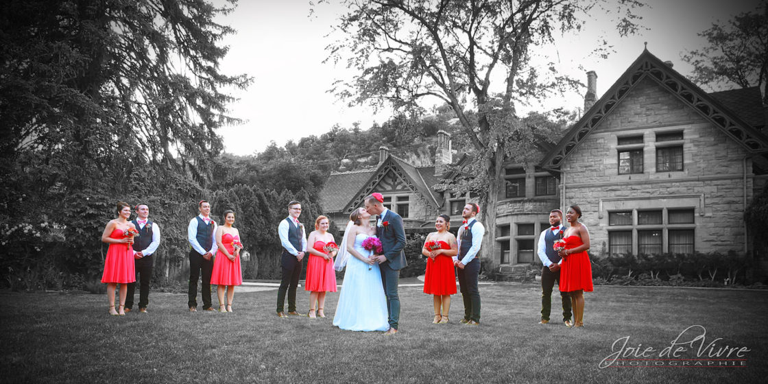 Color treatment, color correction, wedding photography