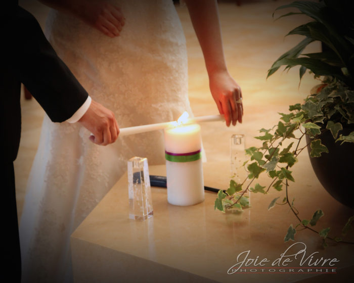 Lighting up candle, wedding photography