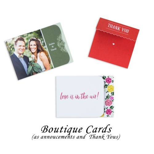 Boutique Cards, announcement & thank you cards