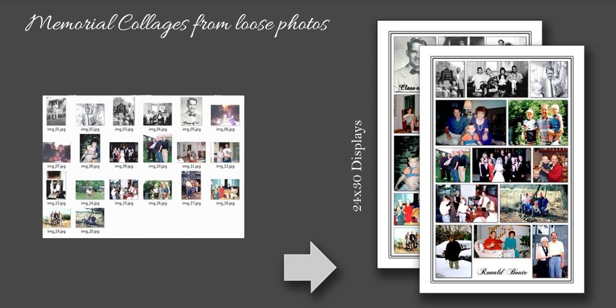 Memorial Collage photo restoration