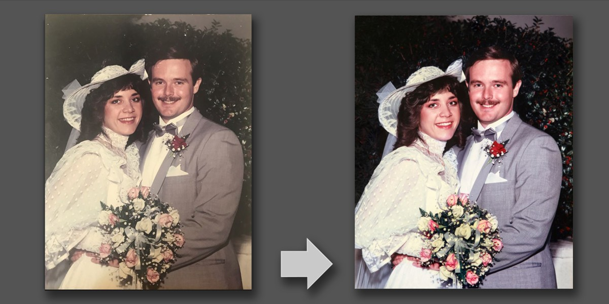 Damaged Wedding Photo restoration