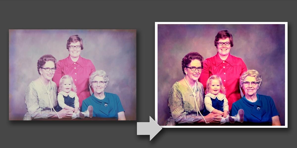 Faded photo restoration